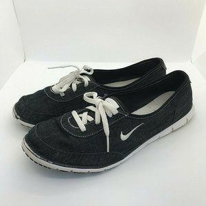 Nike Womens Black Lace Up Casual Sneakers